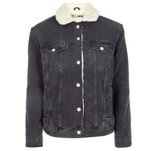 Topshop Moto Denim Oversized Jacket